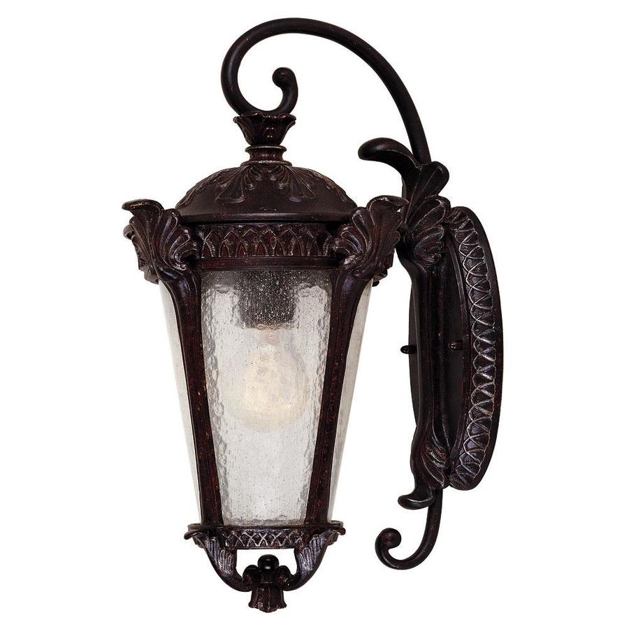 17-in H Distressed Bronze Outdoor Wall Light