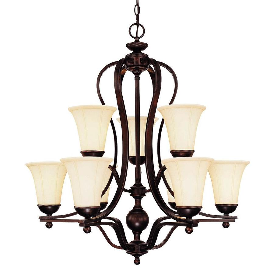 Shandy 30-in 9-Light English Bronze Candle Chandelier
