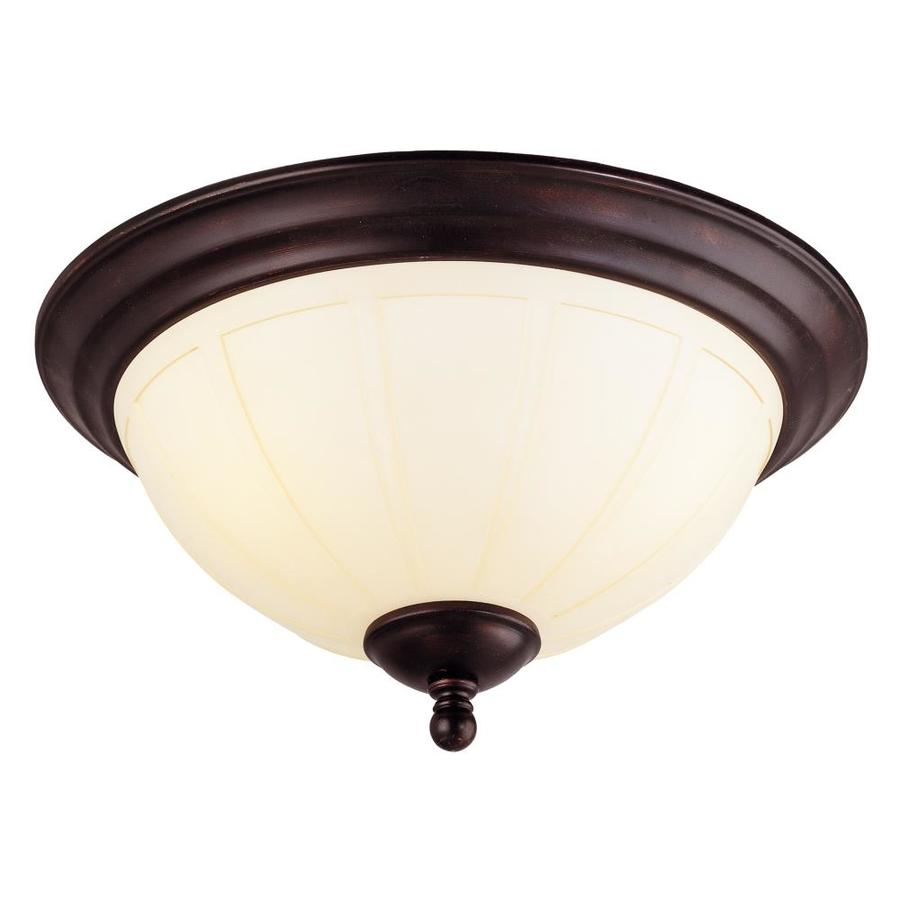 8.33-in W English bronze Flush Mount Light
