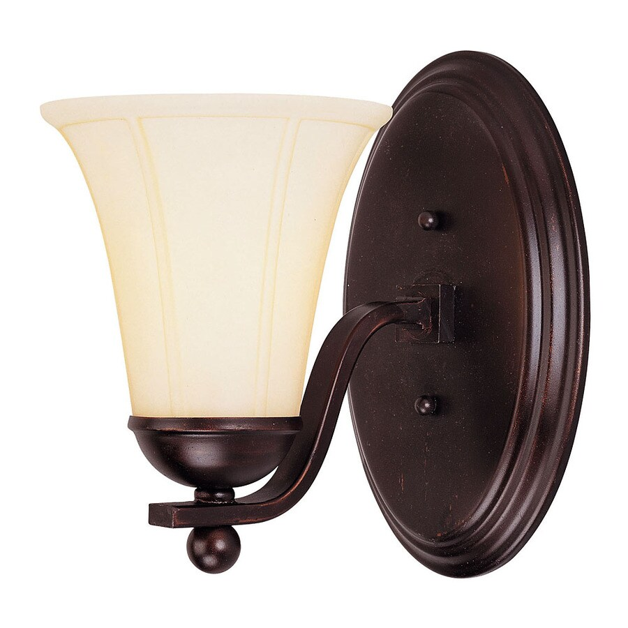 Shandy 6.75-in W 1-Light English Bronze Arm Wall Sconce