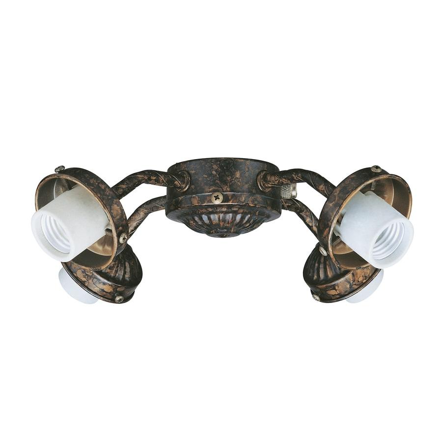 4-Light New Tortoise Shell Incandescent Ceiling Fan Light Kit
