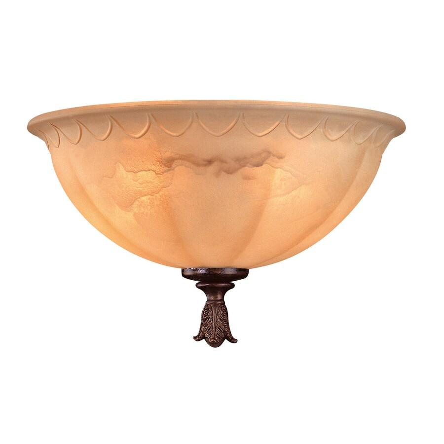 2-Light New Tortoise Shell Ceiling Fan Light Kit with White Glass