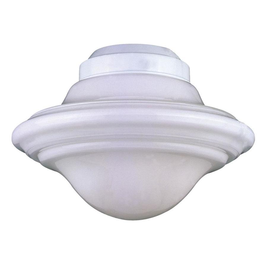 1-Light White Incandescent Ceiling Fan Light Kit