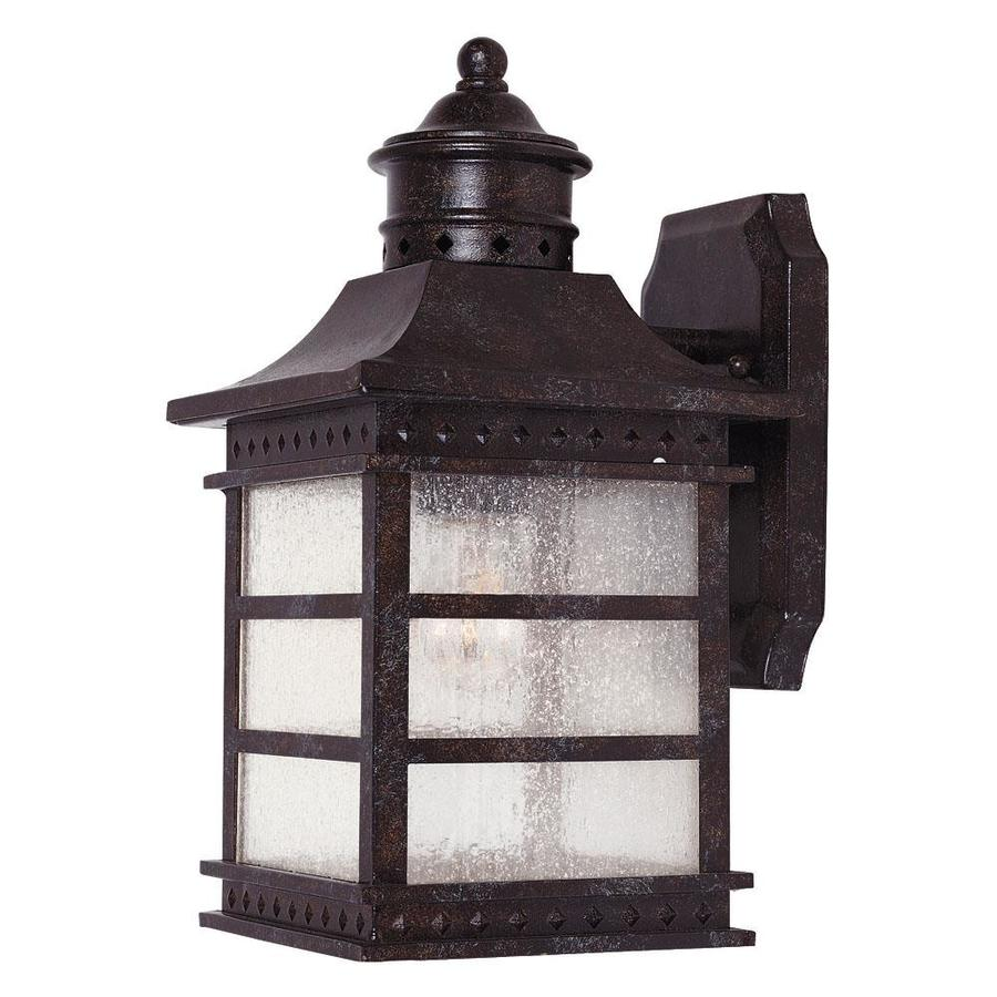 Shop 12 5 In H Rustic Bronze Outdoor Wall Light At