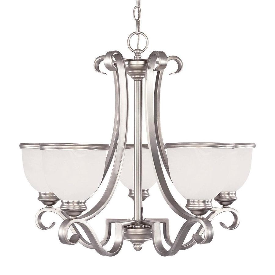 Shandy 25-in 5-Light Pewter Candle Chandelier