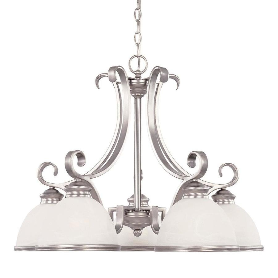 Shandy 27-in 5-Light Pewter Candle Chandelier