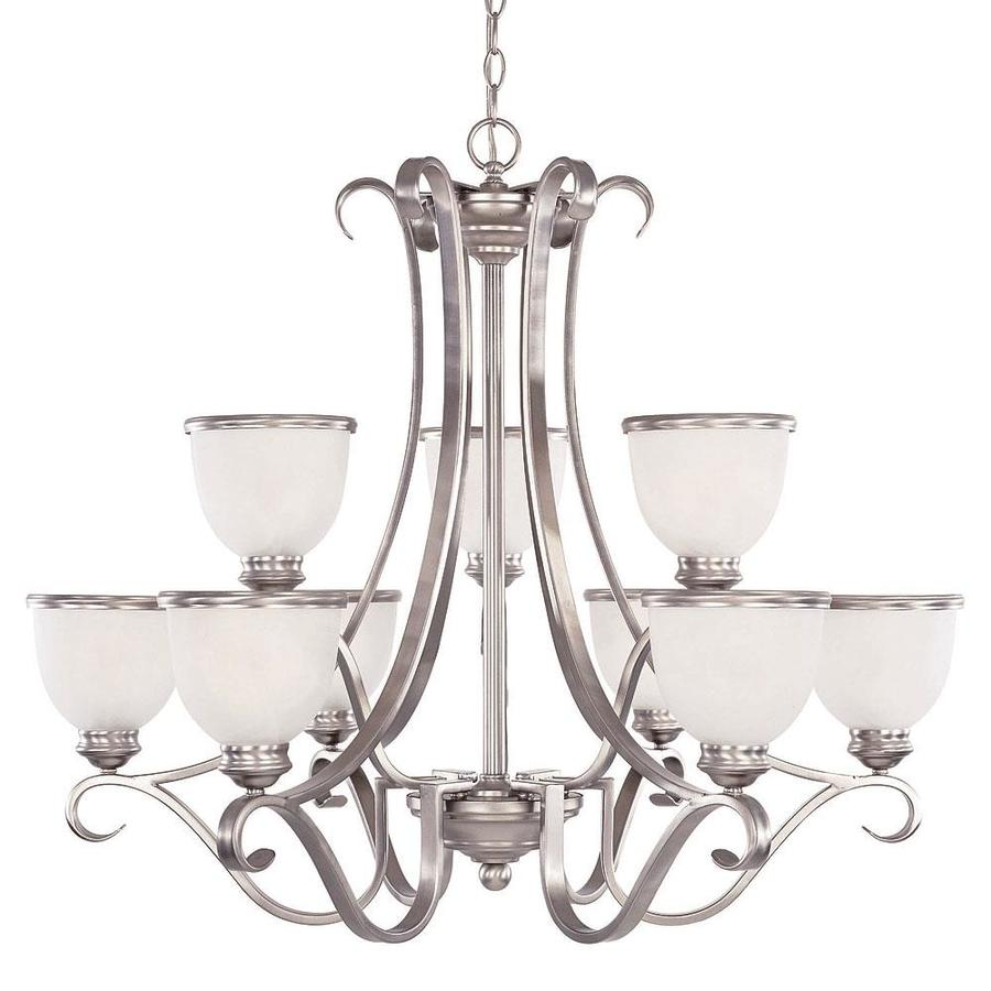 Shandy 34-in 9-Light Pewter Candle Chandelier