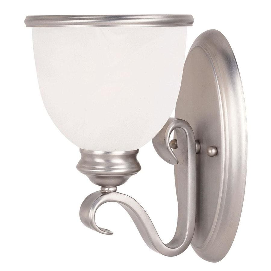 Shandy 6-in W 1-Light Pewter Arm Hardwired Wall Sconce