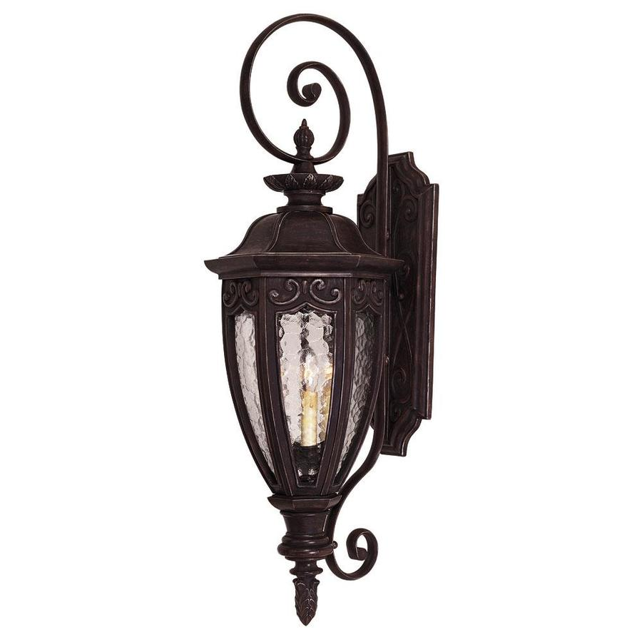36-in H Bark and Gold Outdoor Wall Light