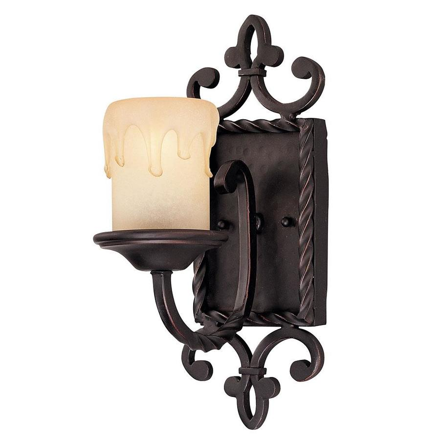 Lowes Tiffany Wall Sconces : Shop Shandy 6-in W 1-Light Slate Arm Wall Sconce at Lowes.com