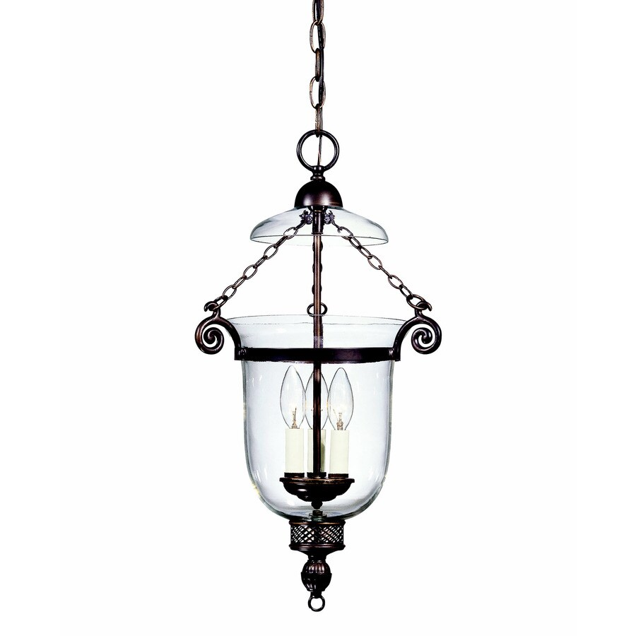 Shandy 12.5-in Old Bronze Single Clear Glass Pendant