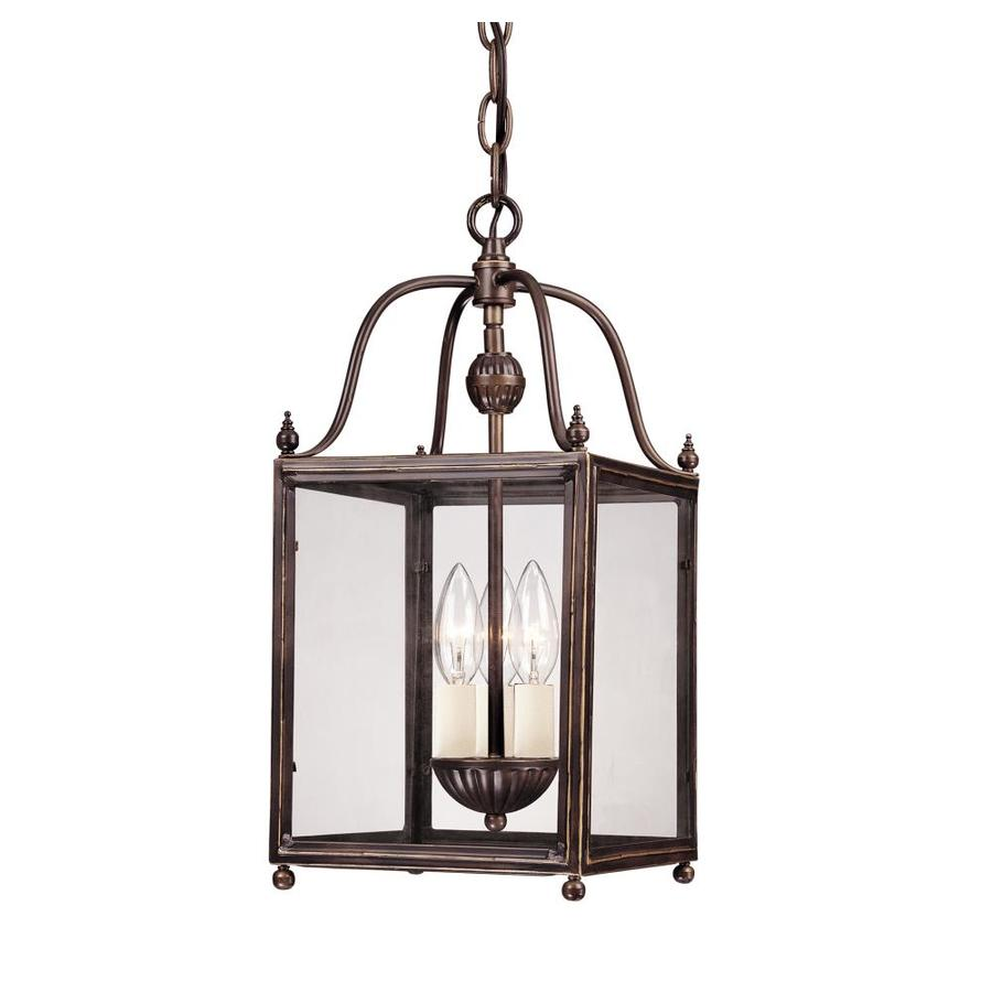 Shandy 8-in Old Bronze Mini Clear Glass Pendant