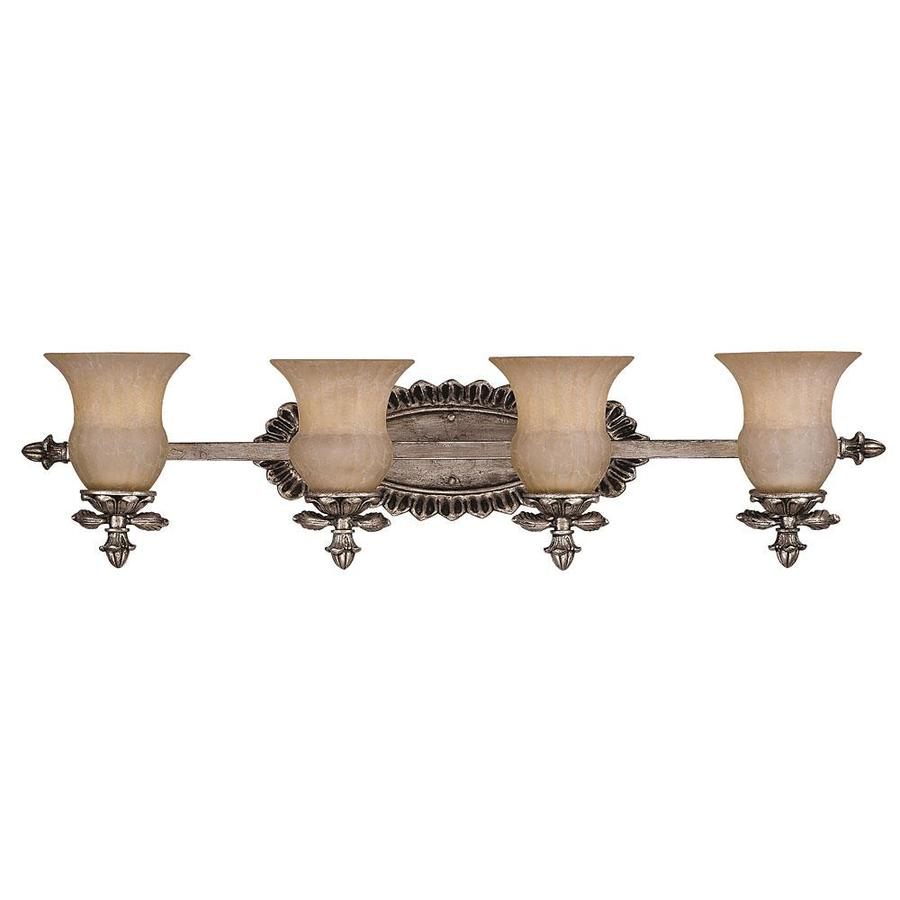Shandy 4-Light 9-in Silver lace Vanity Light