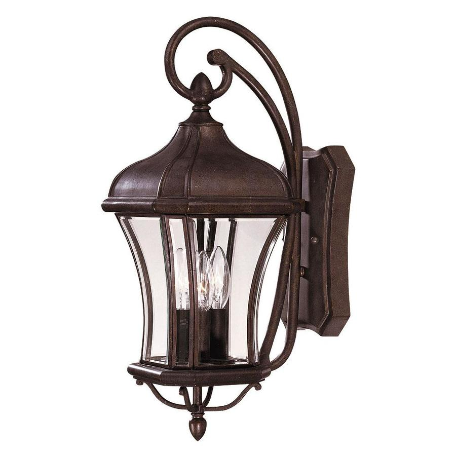 21-in H Walnut Patina Outdoor Wall Light
