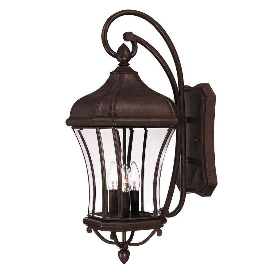 Shop 26.25-in H Walnut Patina Outdoor Wall Light At Lowes.com
