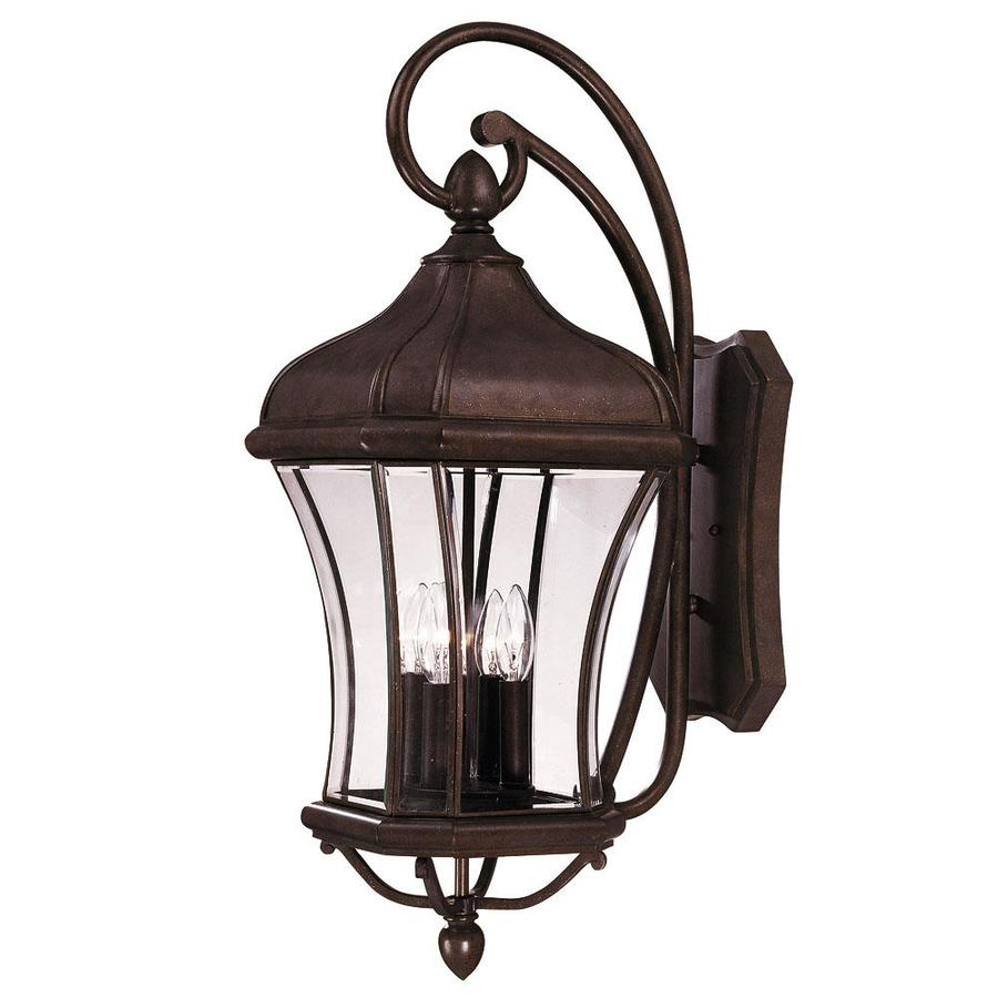31.5-in H Walnut Patina Outdoor Wall Light