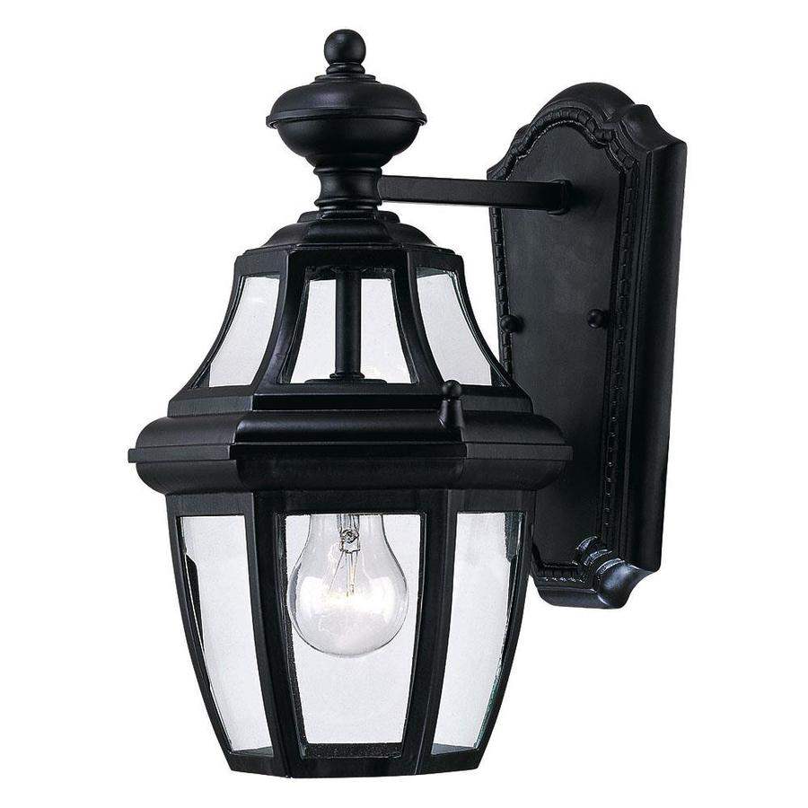 13.12-in H Black Outdoor Wall Light