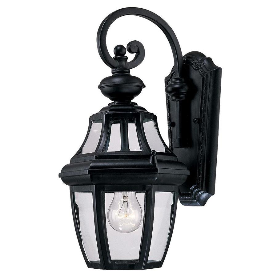 15.87-in H Black Outdoor Wall Light