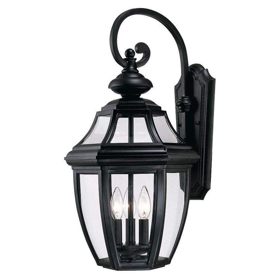 25-in H Black Outdoor Wall Light