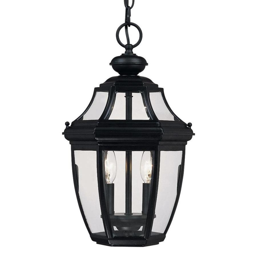 Vojtech 17-in Black Outdoor Pendant Light
