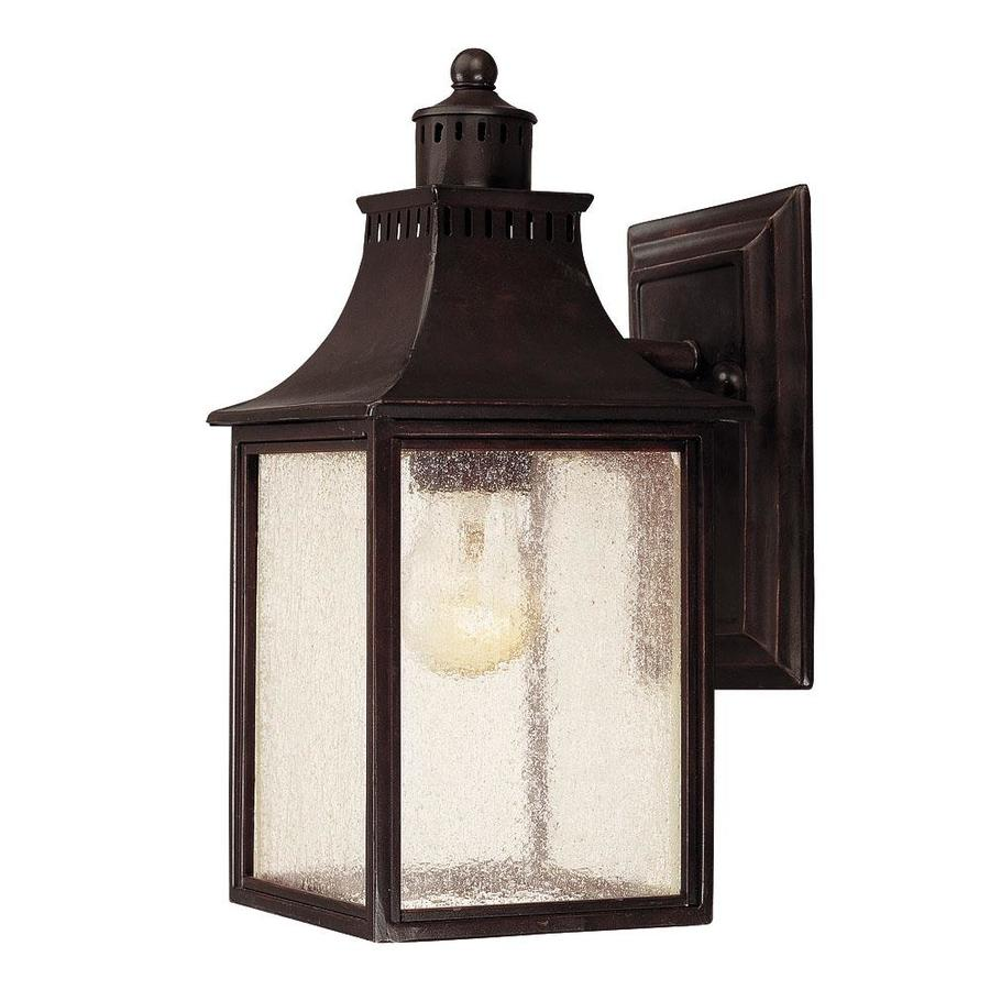 11.5-in H English Bronze Outdoor Wall Light