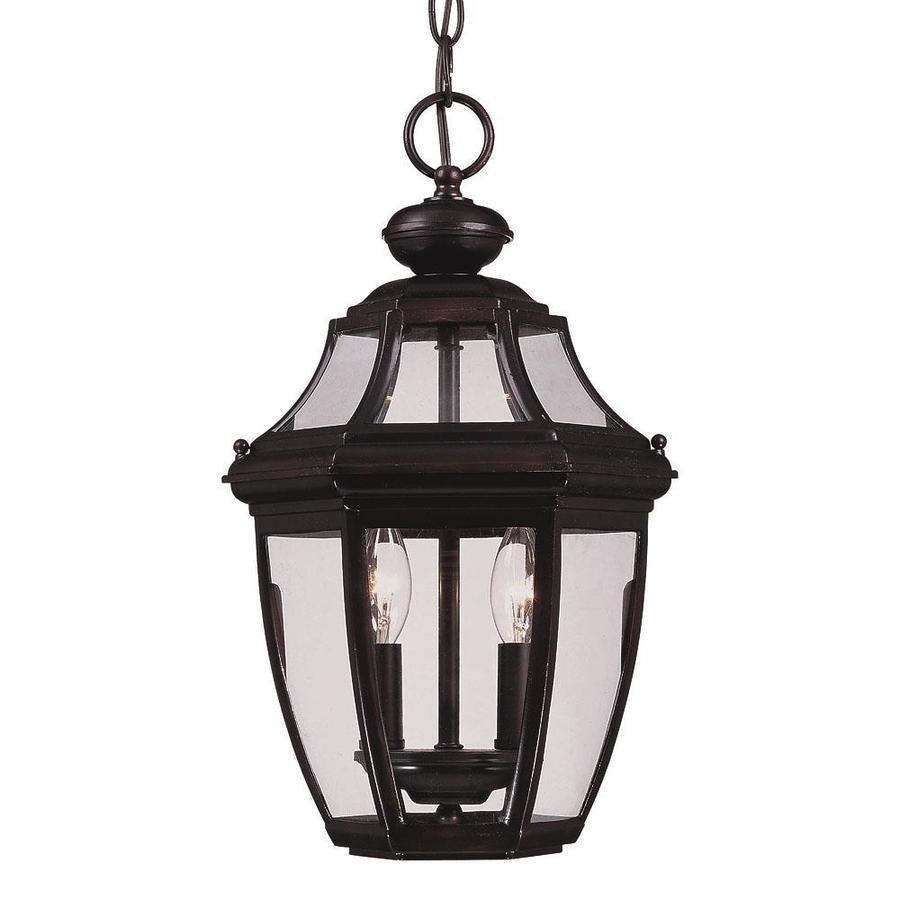 Billowen 17-in English Bronze Outdoor Pendant Light