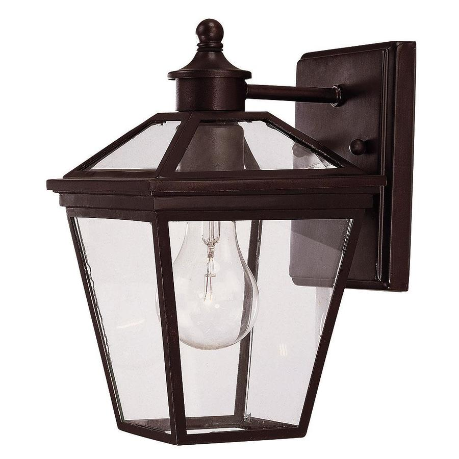 9.75-in H English Bronze Outdoor Wall Light