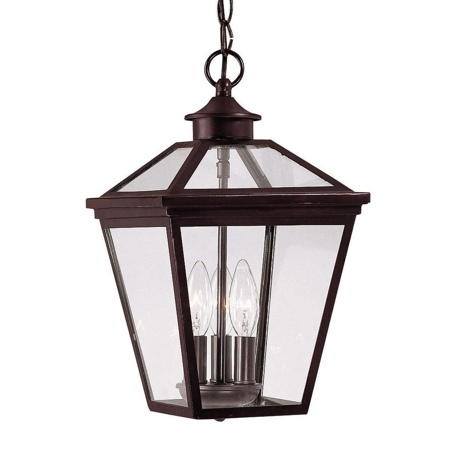 Outdoor Hanging Lanterns Lowes: Goto 15.75-in English Bronze Outdoor Pendant Light At