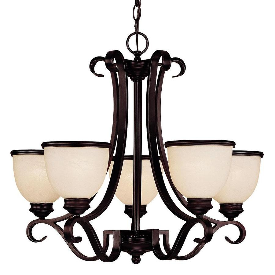 Shandy 25-in 5-Light English Bronze Candle Chandelier