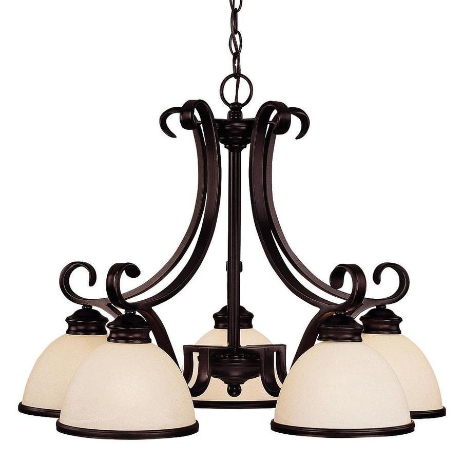 Shandy 27-in 5-Light English Bronze Candle Chandelier
