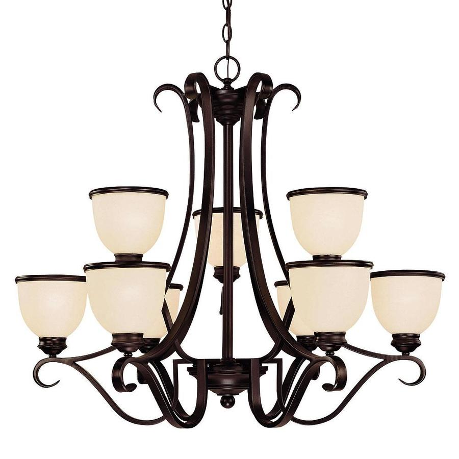 Shandy 34-in 9-Light English Bronze Candle Chandelier