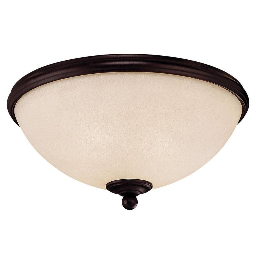 13-in W English Bronze Standard Flush Mount Light