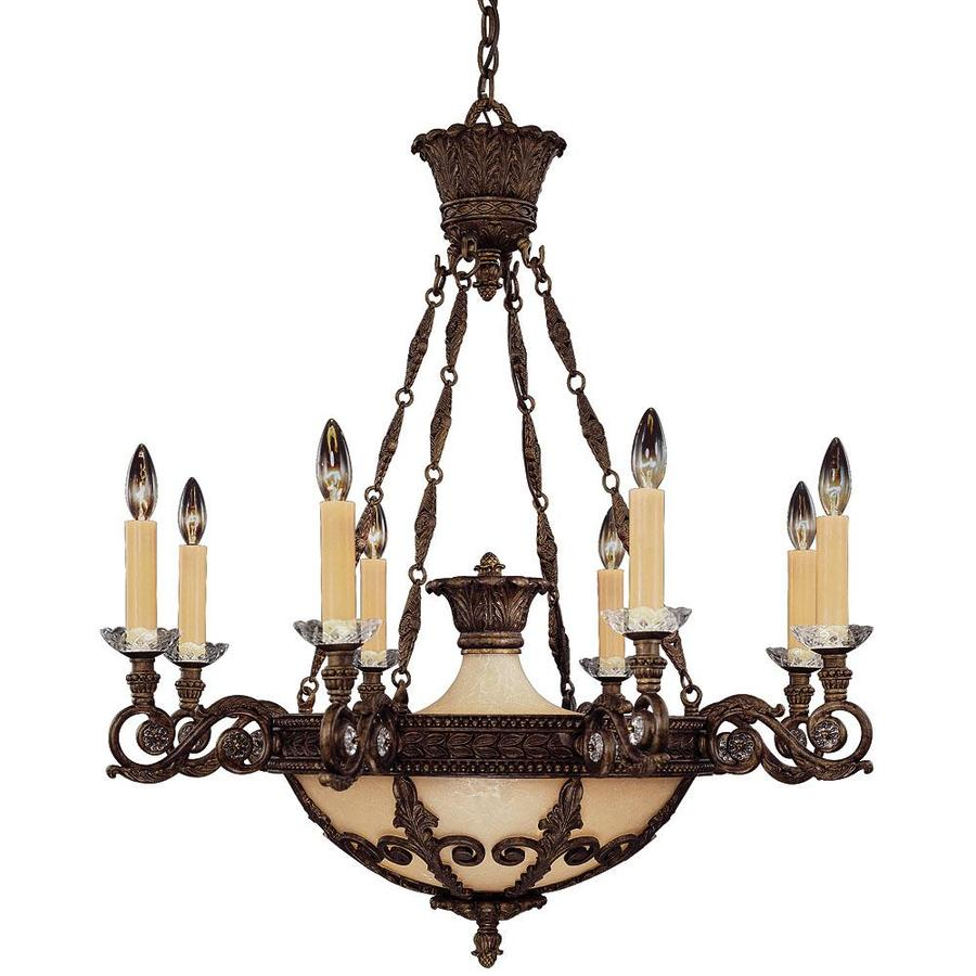 Shandy 31-in 8-Light New Tortoise Shell Candle Chandelier
