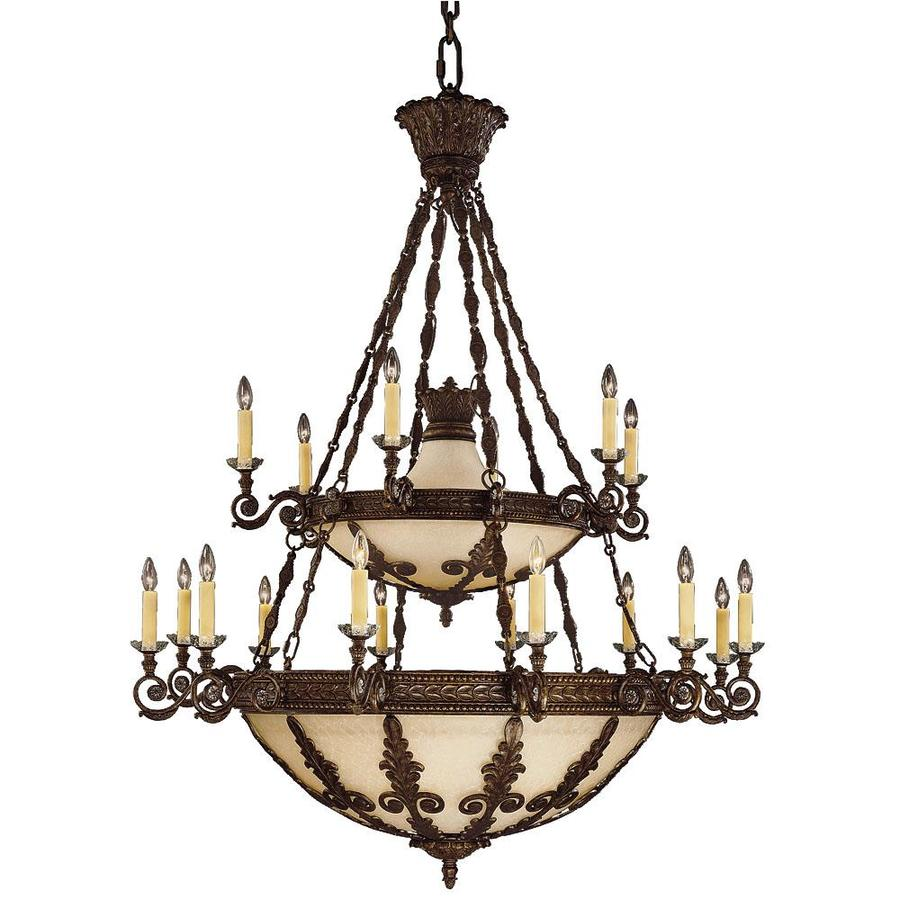 Shandy 55-in 18-Light New Tortoise Shell Candle Chandelier