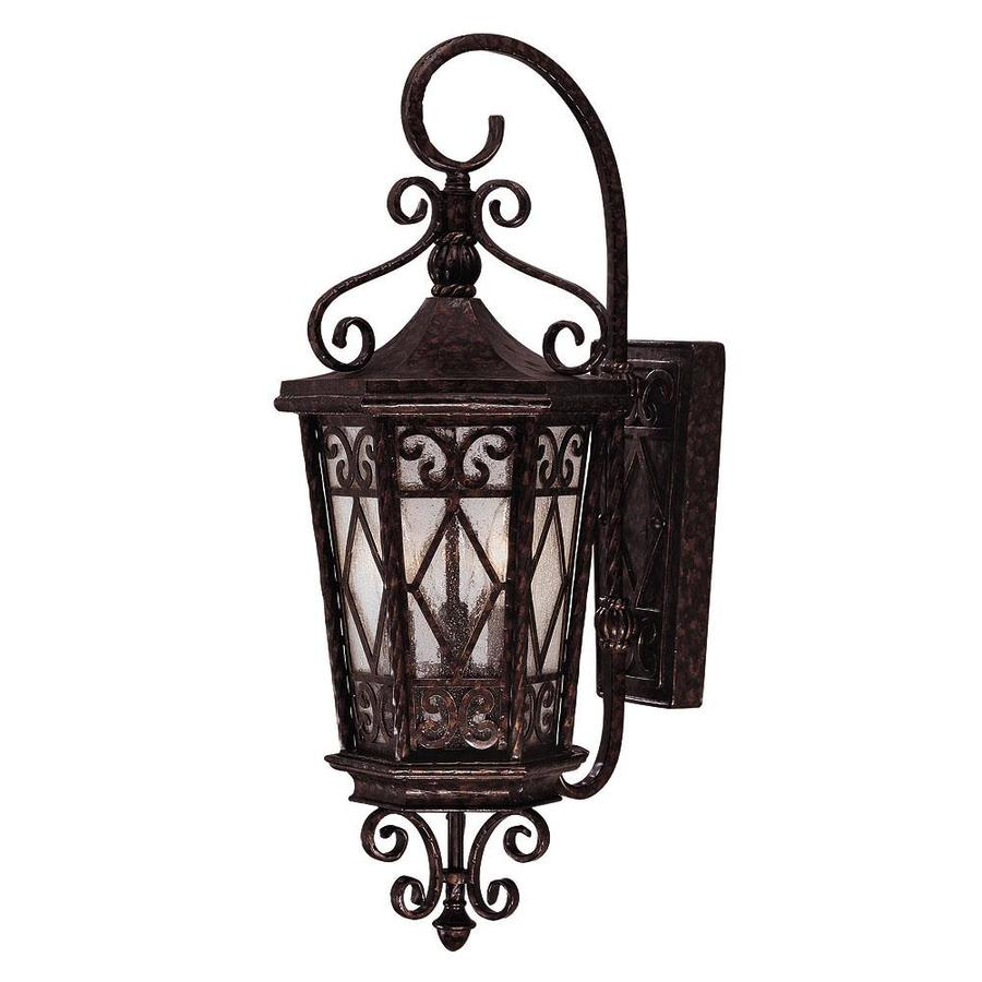 25.62-in H New Tortoise Shell Outdoor Wall Light