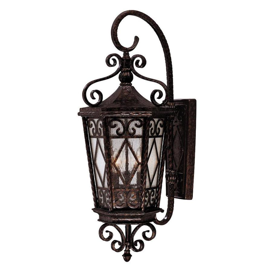 31.37-in H New Tortoise Shell Outdoor Wall Light