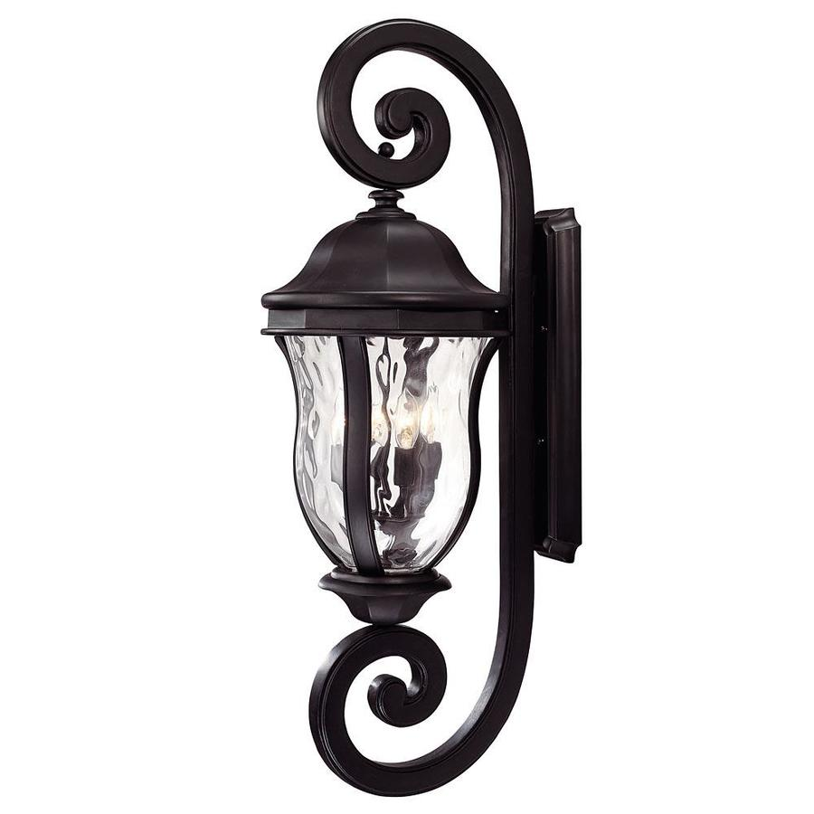 40.12-in H Black Outdoor Wall Light