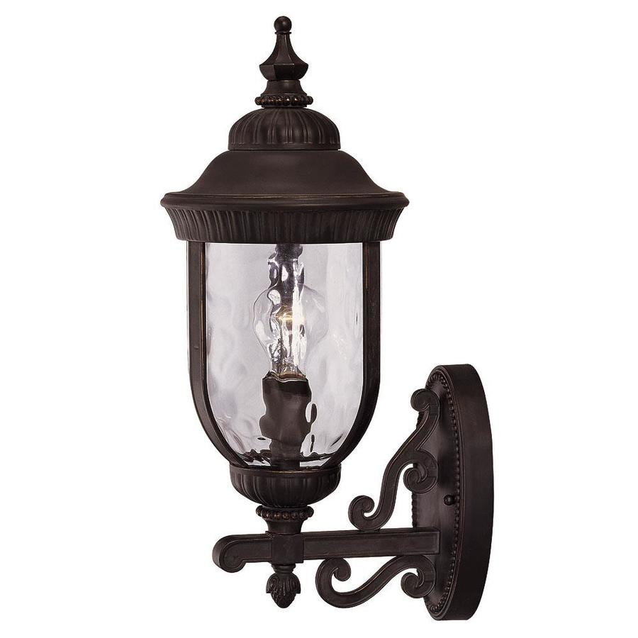 20.25-in H Black and Gold Outdoor Wall Light