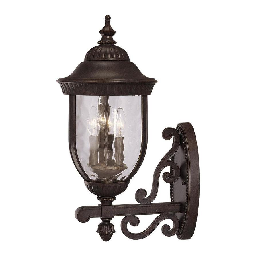 23.25-in H Walnut Patina Outdoor Wall Light