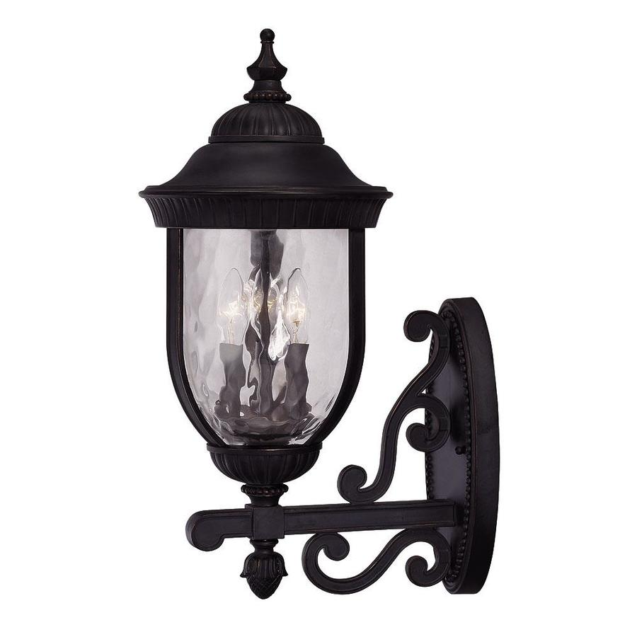 23.25-in H Black and Gold Outdoor Wall Light