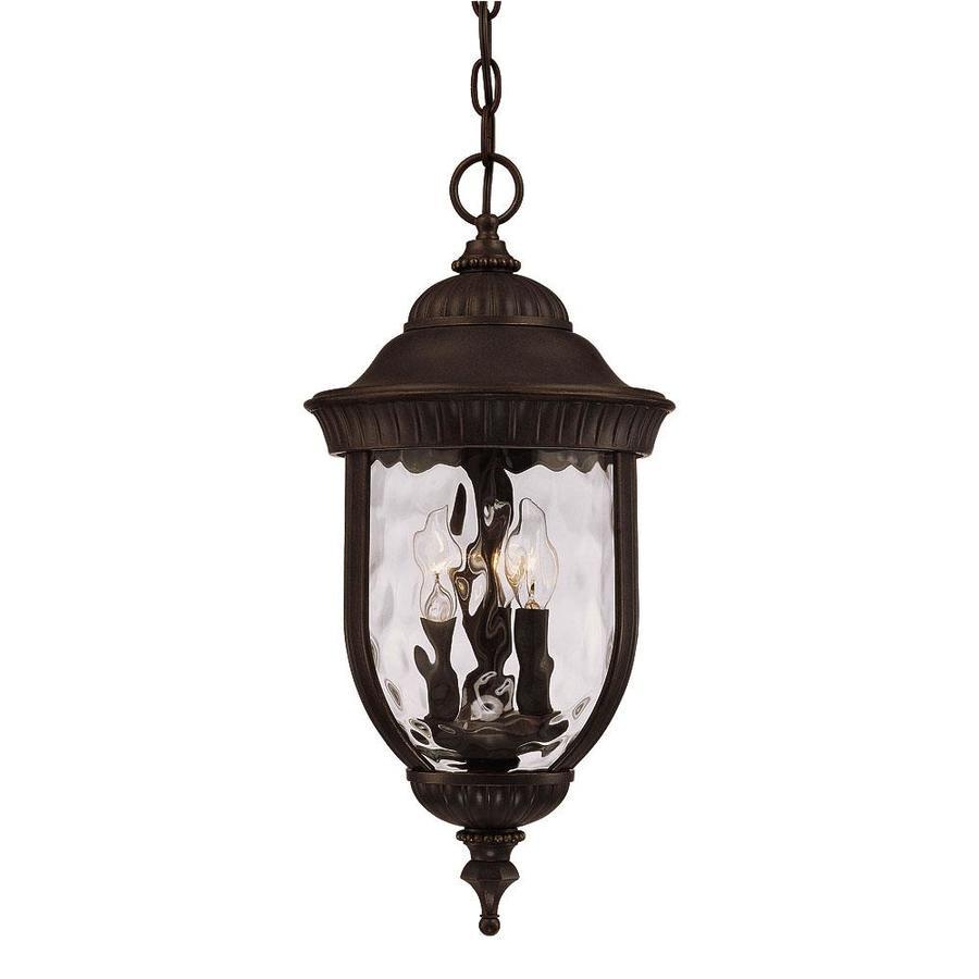 Elmerreese 21.25-in Walnut Patina Outdoor Pendant Light