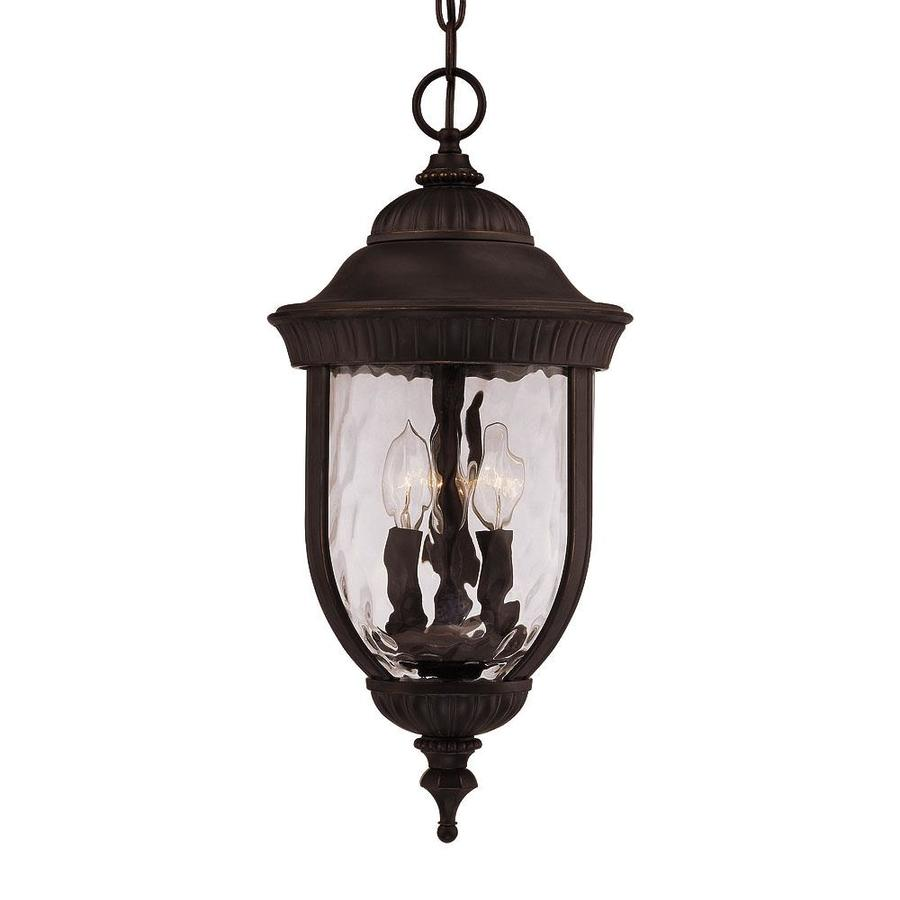 Farpoint 21.25-in Black and Gold Outdoor Pendant Light