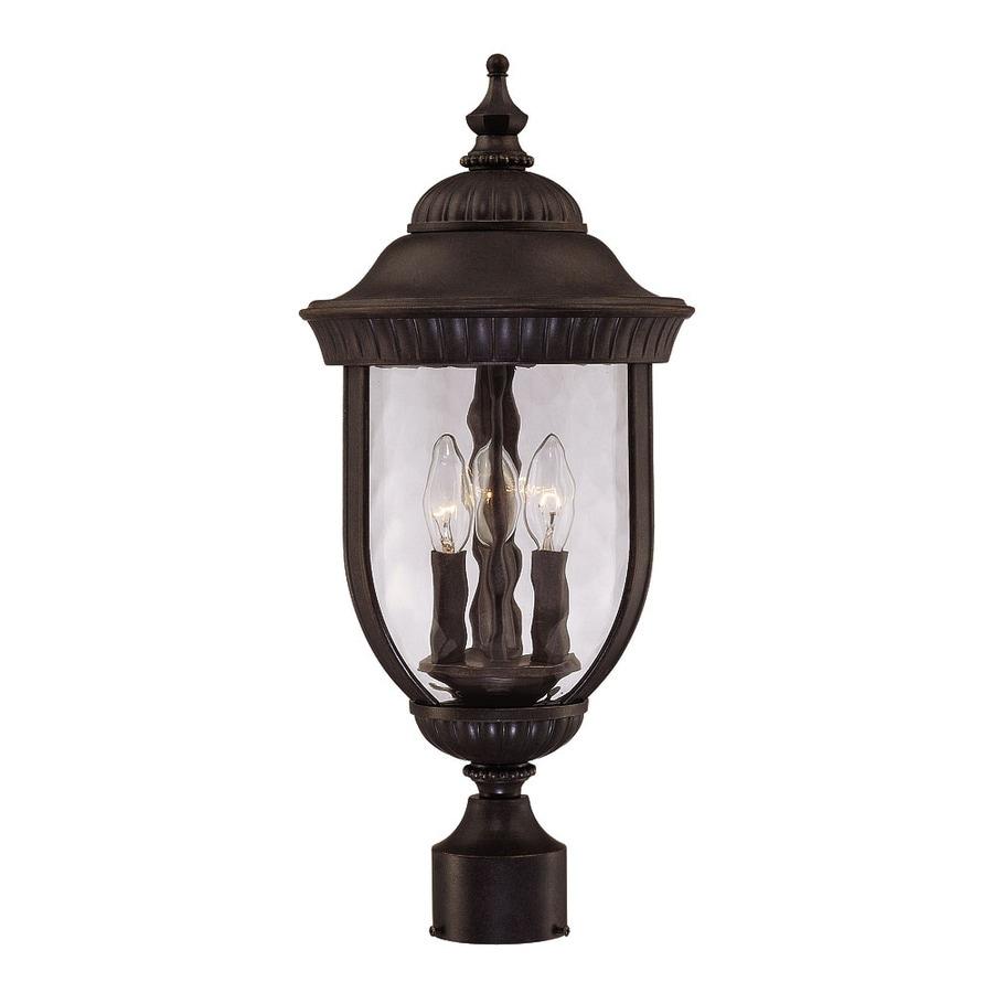 22.25-in H Walnut Patina Post Light