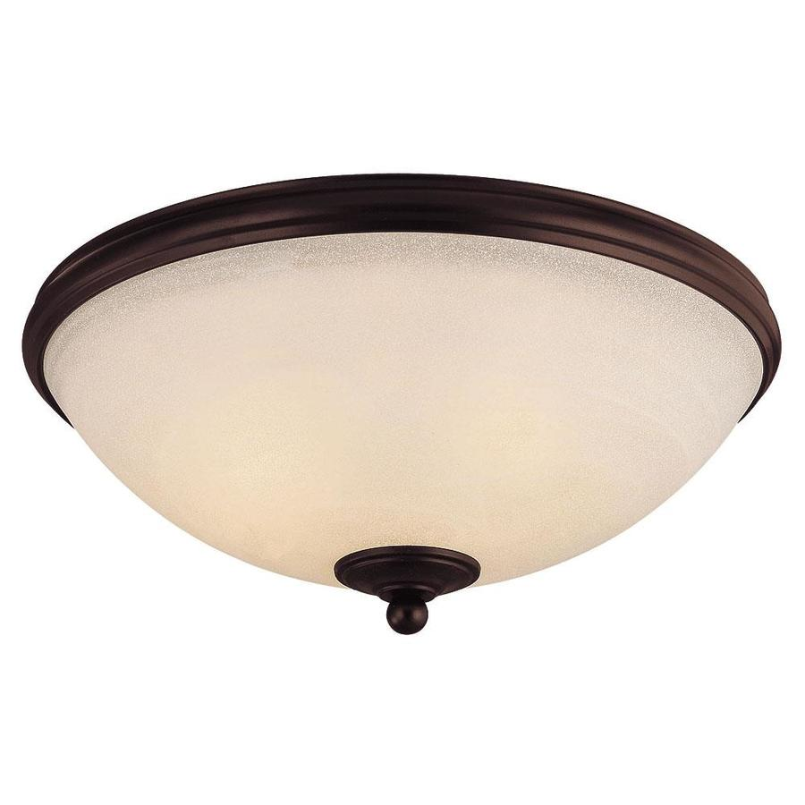 15-in W English Bronze Ceiling Flush Mount Light