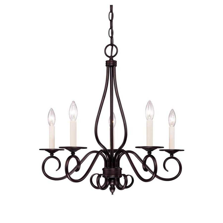 Shandy 24-in 5-Light English Bronze Candle Chandelier