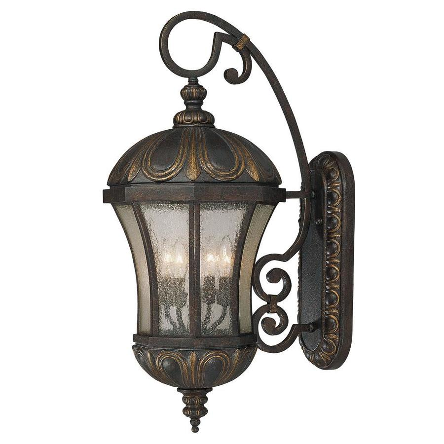 Shop 3037 In H Old Tuscan Outdoor Wall Light At Lowes