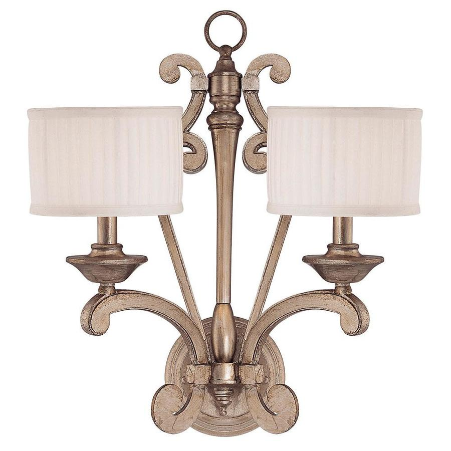 Shandy 18-in W 2-Light Argentum Arm Wall Sconce