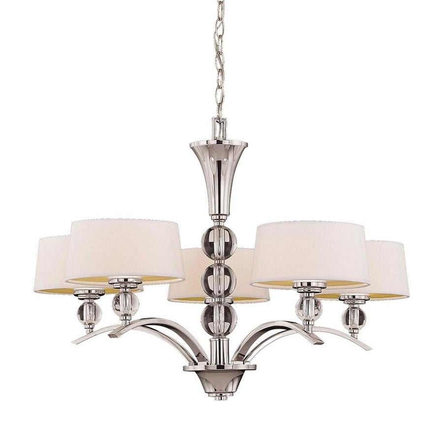 Shop Shandy 30 In 5 Light Polished Nickel Candle Chandelier At