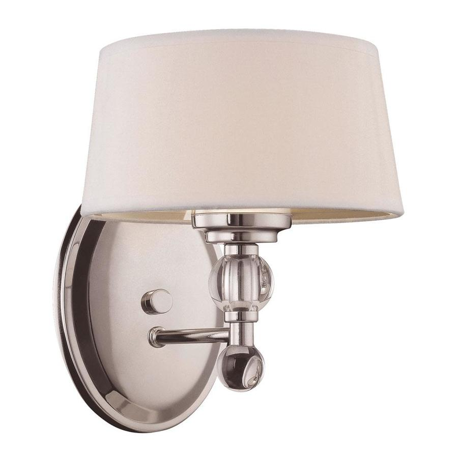 Shop Shandy 7 5 In W 1 Light Polished Nickel Arm Wall Sconce At