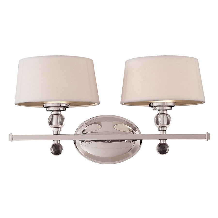 Shandy 2-Light 9-in Polished Nickel Vanity Light